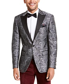 Orange Men's Slim-Fit Paisley Dinner Jacket