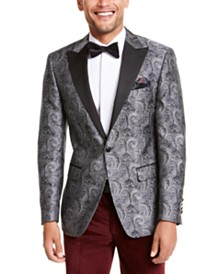 Tallia Orange Men's Slim-Fit Paisley Dinner Jacket