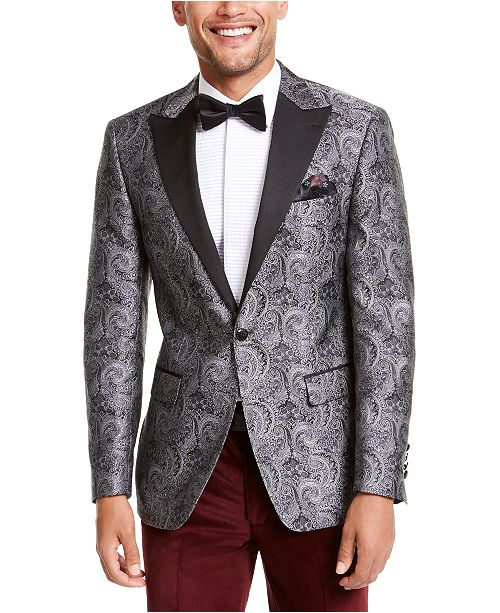 great discount sale high fashion discount Orange Men's Slim-Fit Paisley Dinner Jacket