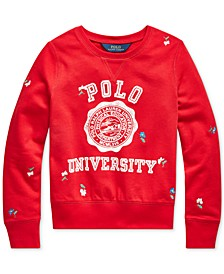 Big Girls Polo University Athletic Terry Sweatshirt