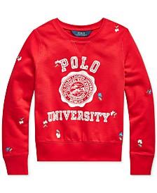 Polo Ralph Lauren Big Girls Polo University Athletic Terry Sweatshirt