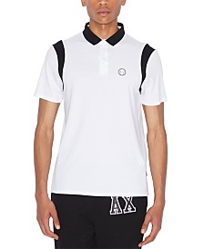 A|X Armani Exchange Men's Colorblocked Polo Shirt