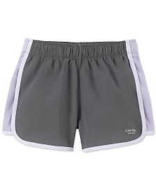 Calvin Klein Performance Big Girls Slim-Fit Colorblocked Sport Shorts
