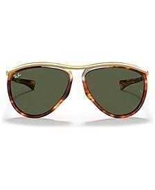 OLYMPIAN AVIATOR Sunglasses, RB2219 59