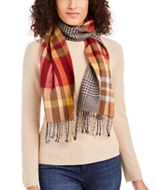 Cejon Reversible Plaid Scarf