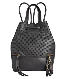 Anise Perforated Leather Backpack
