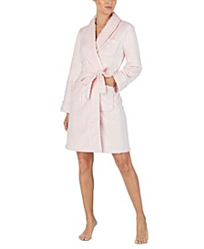 So Soft Herringbone Short Wrap Robe