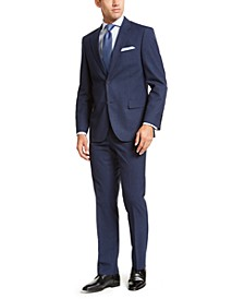 Men's Modern-Fit Active Stretch Basketweave Big and Tall Suit