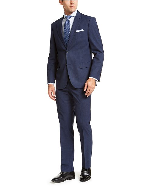 Nautica Men's Modern-Fit Active Stretch Basketweave Suit