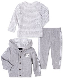 Baby Boys 3-Pc. Logo Shirt, Pants & Hoodie Jacket Set