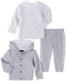 Baby Boys 3-Pc. Logo Shirt, Pants & Hoodie Jacket Set