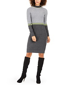 Petite Colorblocked Sweater Dress