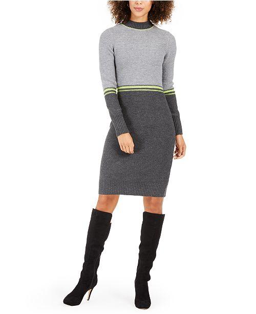 Jessica Howard Petite Colorblocked Sweater Dress