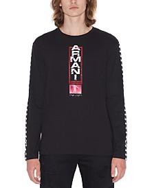 A|X Armani Exchange Men's Long-Sleeve Racing T-Shirt