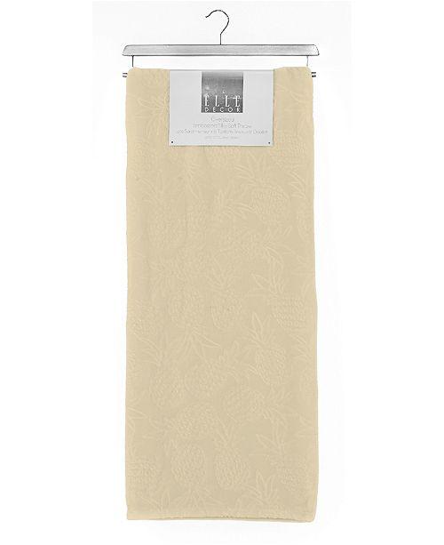 Elle Decor Pineapple 3D Embossed Plush Blanket - Full/Queen