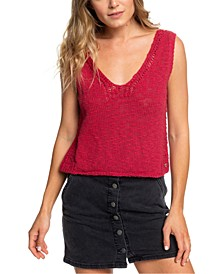 Juniors' Cotton Sweater Tank Top