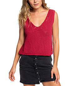 Roxy Juniors' Cotton Sweater Tank Top