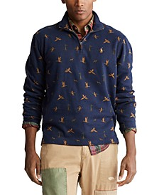 Men's Duck-Print Quarter-Zip Pullover
