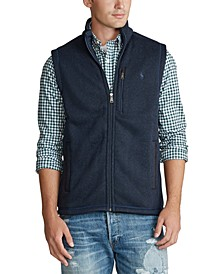 Men's Big & Tall Fleece Mockneck Vest