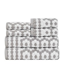 Veronica 100% Cotton 6-Pc. Towel Set