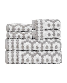 Caro Home Veronica 100% Cotton 6-Pc. Towel Set