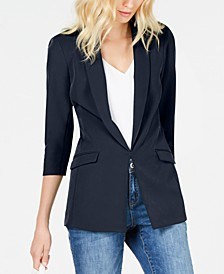 INC Petite Ruched-Sleeve Blazer, Created for Macy's