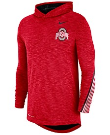 Nike Men's Ohio State Buckeyes Hooded Sideline Long Sleeve T-Shirt