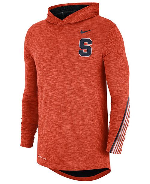 Nike Men's Syracuse Orange Hooded Sideline Long Sleeve T-Shirt