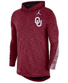 Nike Men's Oklahoma Sooners Hooded Sideline Long Sleeve T-Shirt