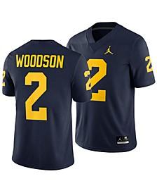 Men's Charles Woodson Michigan Wolverines Player Game Jersey