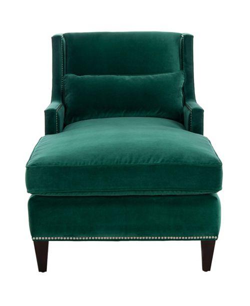 Safavieh Vitali Emerald Chaise