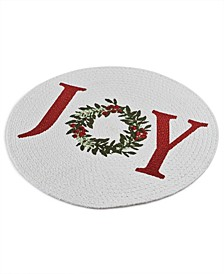 Holiday Joy Cotton Braided Round Placemat