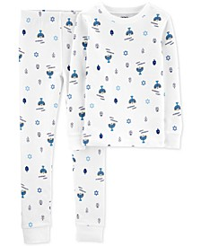 Little & Big Boys 2-Pc. Hanukkah Snug Fit Cotton Printed Pajamas Set