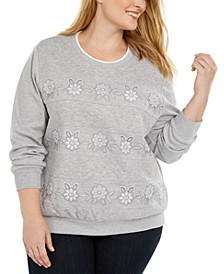 Plus Size All About Ease Bouquet Spliced Biadere Top