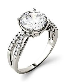 Moissanite Split Shank Ring 2-9/10 ct. t.w. Diamond Equivalent in 14k White Gold