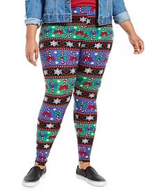 Trendy Plus Size Printed Leggings