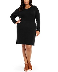 Plus Size Ribbed Sweater Dress