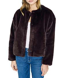 Starry Night Faux-Fur Jacket