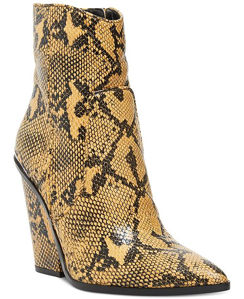 Steve Madden Women's Rarely Western Leather Booties