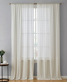 Lumino by Adelaide Macrame Sheer Voile Rod Pocket Curtain Panels - 54 W x 96 L - Set of 2