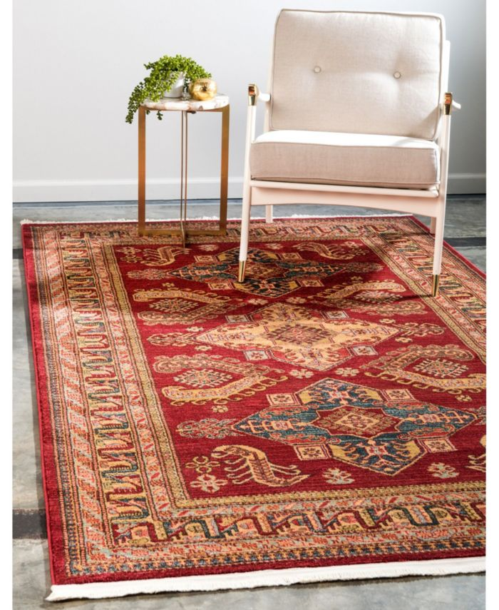 Bridgeport Home Harik Har5 Red Area Rug Collection & Reviews - Rugs - Macy's