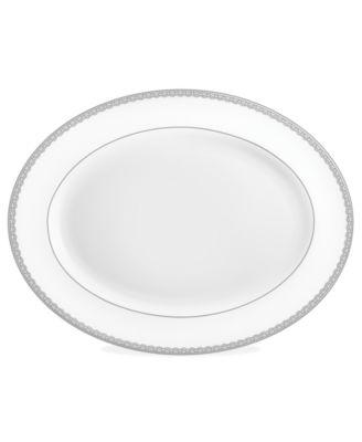 Lismore Lace Platinum Oval Platter