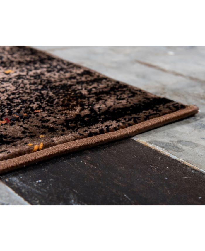 Bridgeport Home Linport Lin4 Orange Area Rug Collection & Reviews - Rugs - Macy's