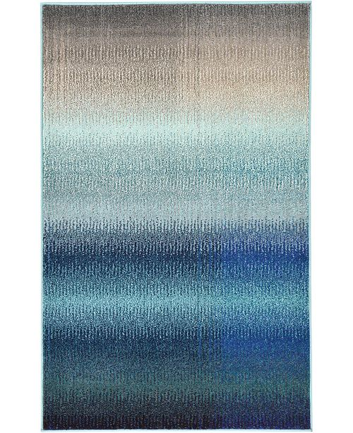 Bridgeport Home Newwolf New1 Blue Area Rug Collection