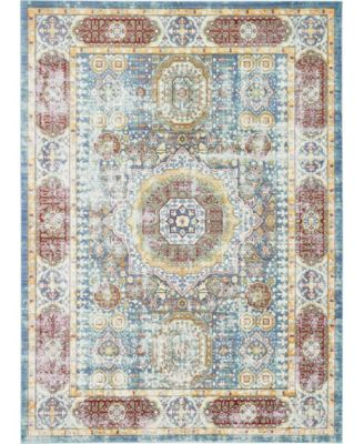 Malin Mal1 Blue 6' x 9' Area Rug