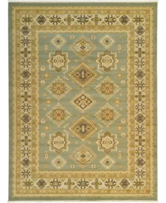Harik Har8 Light Green 2' x 6' Runner Area Rug
