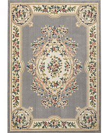 Nourison Juliette Jul01 Gray 8'10 x 11'10 Area Rug