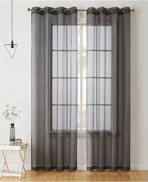 Perth Semi Sheer Grommet Curtain Panels