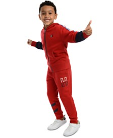 Tommy Hilfiger Little Boys Vinny Piece Colorblocked Hoodie & Kent Logo-Print Fleece Sweatpants