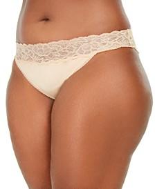 Women's Lace-Trim Seductive Comfort Bikini Underwear QF5660